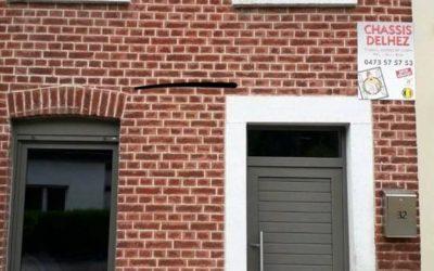 Rénovation de châssis et portes à Queue-Du-Bois (Liège) RAL 7039